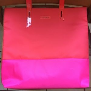 New Lancôme Pink and Red Flamingo Tote